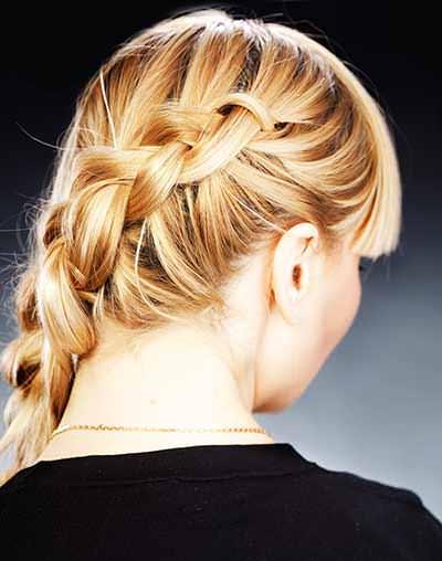 Simple curled braid hairstyle