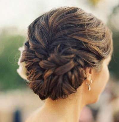 Casual-braided-bun-Hairstyle
