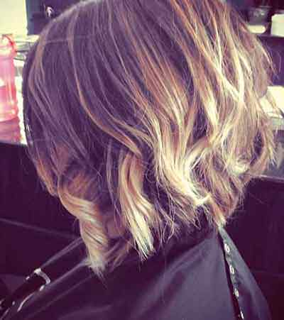 Curly-Ombre-Colored-Shorter-Bob
