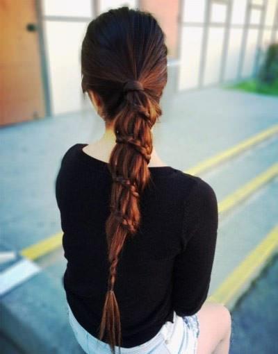 Winding-braided-ponytail